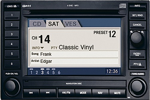 Chrysler sirius satellite radio